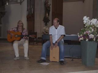 Schülerin Carolin Woitzik und Lehrer Matthias Schneider begeisterten mit ihrer Musik. Foto: SMMP/Hofbauer